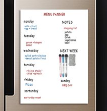 A3 Magnetic Calendar for Fridge - Dry Erase Whiteboard for Refrigerator - Monthly White Board- Perfect Planner Kitchen Office(China)