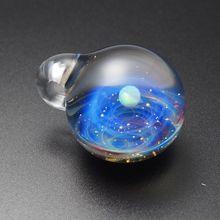 New design Wholesale borosilicate Glass beads Art Crystal Universe for christmas gifts Galaxy Ball galaxy glass pendant