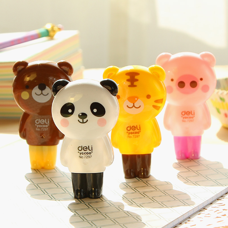 DELI Kawaii Correction Tape Cute Animal Altered Pupils Writing Correction Tape 5mm*6m Tape Student Writing Correction Papeleria