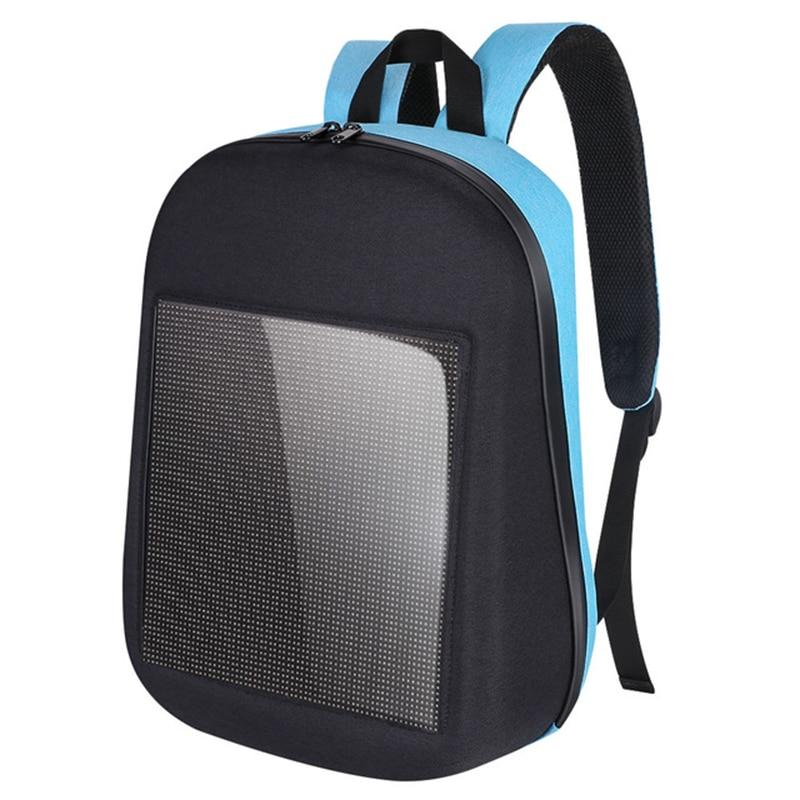 แฟชั่นรุ่น Wifi กันน้ำสมาร์ทหน้าจอ Led แบบไดนามิกกระเป๋าเป้สะพายหลัง Diy City Walking กลางแจ้งปีนกระเป๋าโฆษณา Backpa-ใน กระเป๋าเดินทาง จาก สัมภาระและกระเป๋า บน   1