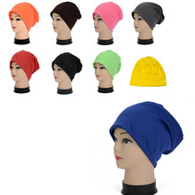 цены на 1pc Spring Women Men Unisex Knitted Winter Cap Casual Beanies Solid Color Hip-hop Snap Slouch Skullies Bonnet beanie Hat  в интернет-магазинах
