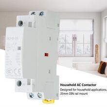 цена на contator eletrico 2P 20A 24V 220V/230V 50/60Hz Household AC Contactor DIN Rail Mount 1NO 1NC Household ac Modular contactor
