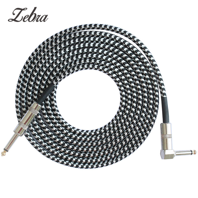 zebra jack audio cable professional noise free 3 meters guitar cables for guitar mixer. Black Bedroom Furniture Sets. Home Design Ideas