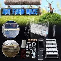 Large 3.0mm Transparent DIY Moisture Feeding Area Ant Nest Farm Plastic, Insect Ant Nests Villa PET House Ants 150mmx54mmx110mm