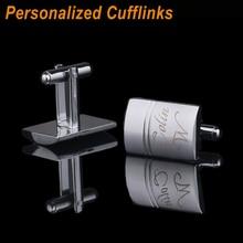 Customized  wedding groomsmen Cuff Links laser engraved classic for Men