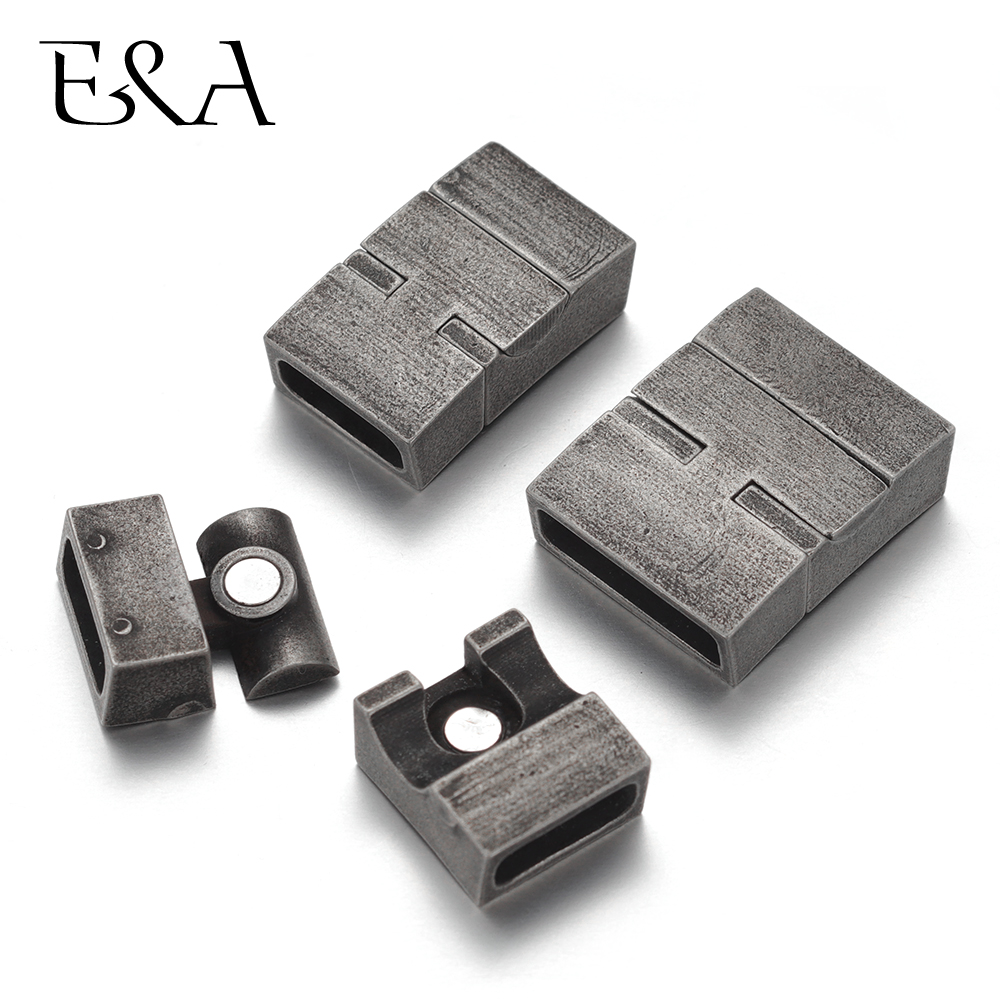 Stainless Steel Magnetic Clasp Hole 11 4mm 16 4mm Leather Cord Clasps Magnet Buckle DIY Bracelet Jewelry Making Components in Jewelry Findings Components from Jewelry Accessories
