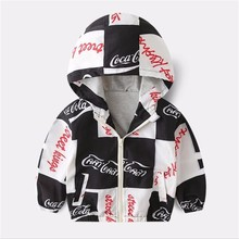 Kids Baby Girls Hooded Jackets Cartoon Print Clothes