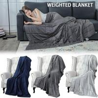 Cotton Gravity Weighted Blanket Glass Beads Ventilation Relieve Stress Anxiety Disorders Decompression Plaids Travel Blanket