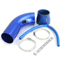 Auto Auto Universele 3 inch/76mm Inlaat Aluminium Siliconen Cold Air Intake Filter Pijp Slang Tube Kit