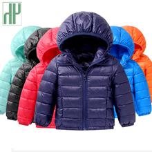 HH wiosna jesień światło dzieci zimowe kurtki bawełna dół płaszcz Baby Jacket dla dziewcząt Parka kurtki hoodies chłopiec płaszcz tanie tanio Odzież wierzchnia i Płaszcze W dół Parkas Regularne Hooded Biała kaczka w dół Unisex 0 24 Sukno A4000034 Zamek