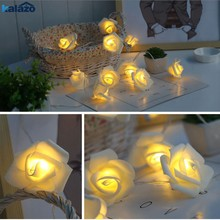 HOT SALE Battery Operated LED Rose Flower Christmas Holiday String Lights For Valentine Wedding Decoration 10/20 LED Lamp(China)