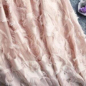Image 4 - Lông Mô Hình Tua Cao Eo Váy Cơ Sở Cho Thấy Tính Khí Cao Lêu Nghêu Váy Nửa cơ thể Váy Phụ Nữ 2019 Voan