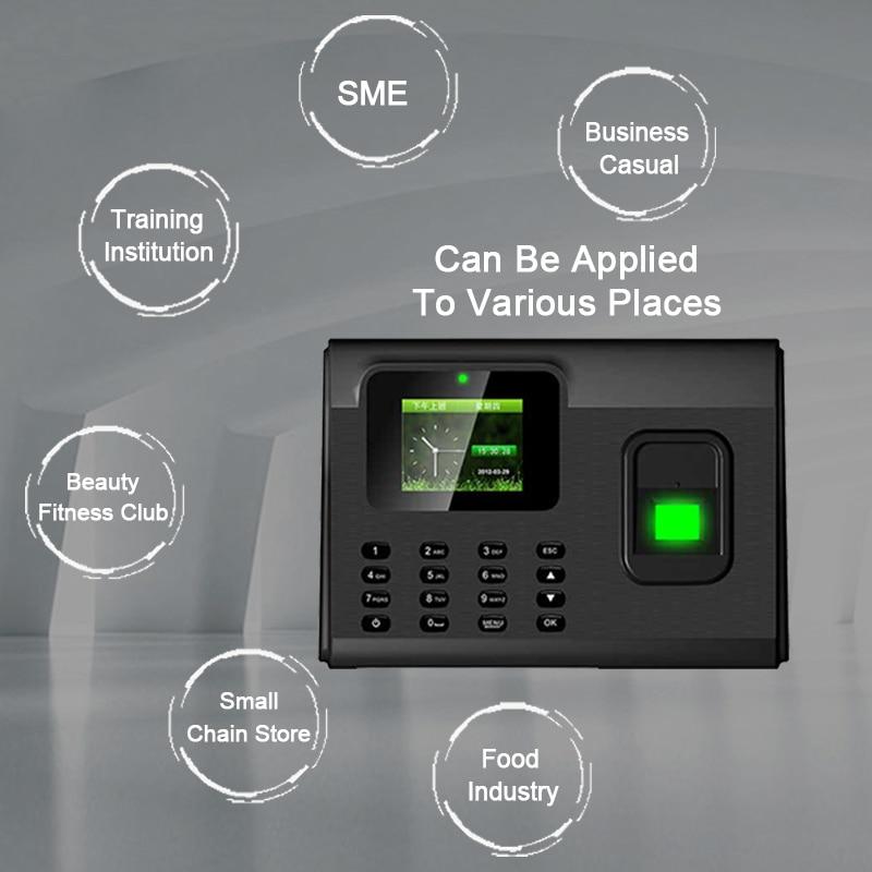Biometric Fingerprint Time Attendance System TCP/IP USB Fingerprint Reader Access Control Recorder Time Clock Employees Device