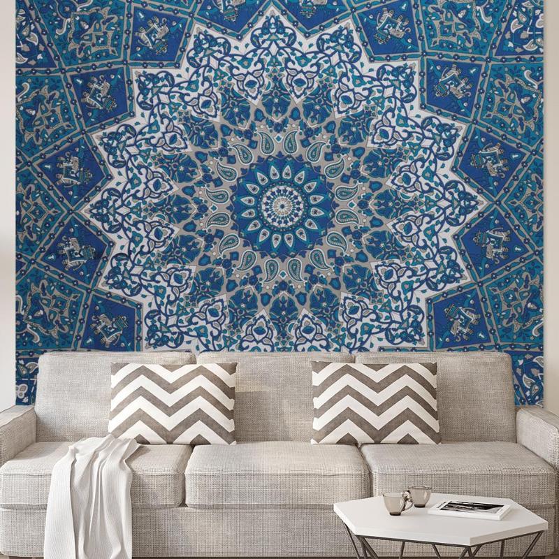 2019 Nieuwe Stijl Grote Mandala Indian Tapijt Muur Opknoping Bohemian Strand Mat Polyester Deken Yoga Mat Thuis Slaapkamer Art Tapijt Dropshipping