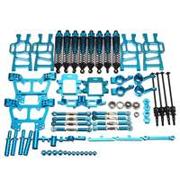 Upgrade Parts Package For HSP RC 1:10 94111 94108 Crawler Car Monster Truck Blue Parts & Accs Aluminum Alloy Blue