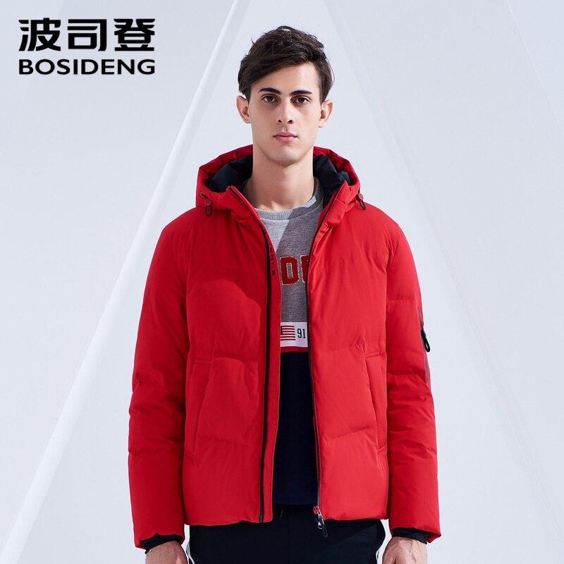 Bosideng 남성 짧은 다운 재킷 후드 스포츠 캐주얼 다운 코트 방수 솔리드 컬러 두꺼운 겉옷 b80142567ds-에서다운 재킷부터 남성 의류 의  그룹 1