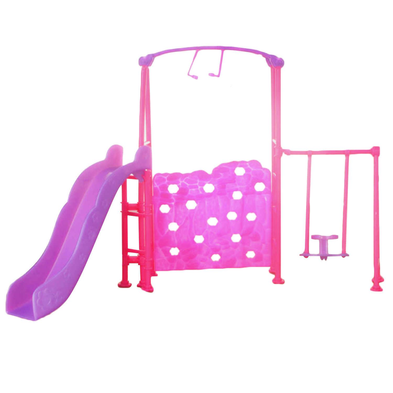 Дети обувь для девочек Забавные Мини подвесная кукла Парк игрушки для детских площадок кукольный домик мебель кукла развлечений устройства, аксессуары Игрушка Барби