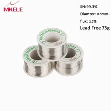 цена на Lead Free Solder Wire Tin 0.5mm 75g Rosin Core Tin Lead Rosin Roll Flux Reel Lead Melt Core Soldering Tin Arame de solda