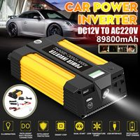 2 IN 1 Car Power Inverter Jump Starter Portable Charger Battery Power Bank 400W DC 12V To AC 220V USB Battery Booster Power Bank