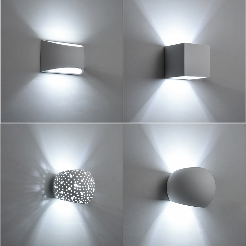 Modern LED Plaster Wall Lamp Creative Gypsum Sconce Lights With 5W G9 LED Bulb Indoor Decoration Lamps Warm White LED Wall Light цена