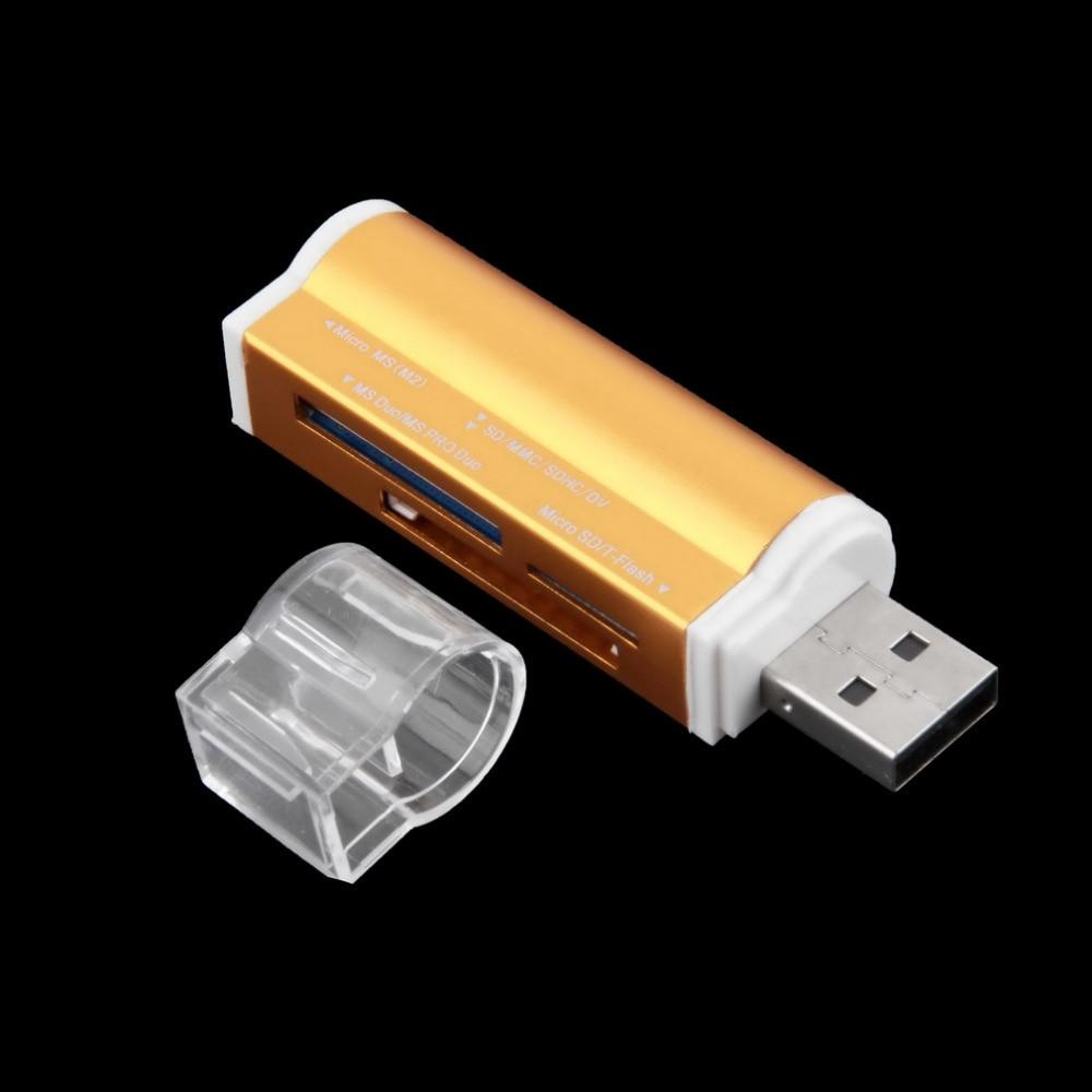 Beminnelijk Nieuwe Usb 2.0 All In 1 Multi Card Slots Geheugenkaartlezer Externe Voor T-flash Mmc Tf M2 Memory Stick Kaart Sd-kaart