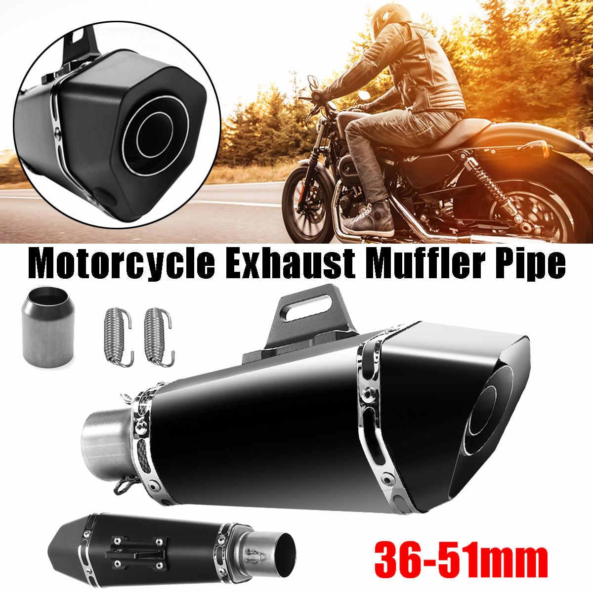 36-51mm forma de delfín motocicleta ATV Stainelss acero GP escape silenciador tubo Slip-On trompeta tipo Universal para Honda