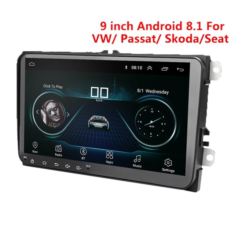9 pouces Android 8.0 Double 2Din autoradio Gps Auto Radio 2 Din Usb pour Volkswagen/Passat/Golf/Skoda/siège Wifi Bluetooth 2 Din - 6