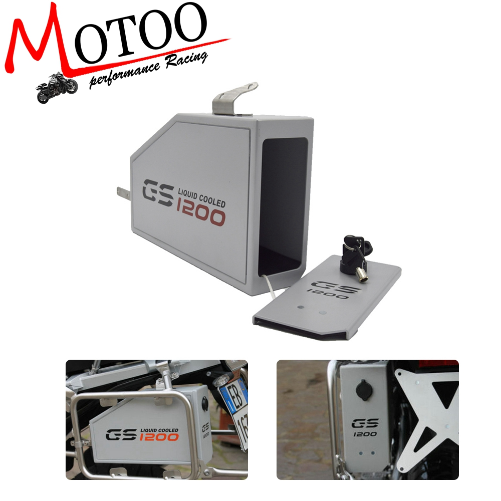 For BMW R1200GS LC ADVENTURE 13-18 R1200GS 14-18 Tool Box Decorative Liters Toolbox By Left Side BracketFor BMW R1200GS LC ADVENTURE 13-18 R1200GS 14-18 Tool Box Decorative Liters Toolbox By Left Side Bracket
