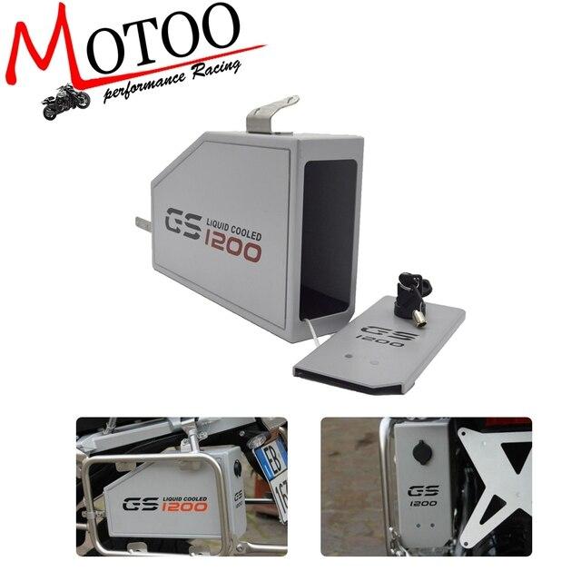 Para BMW R1200GS LC AVENTURA 13-18 R1200GS 14-18 Ferramenta Caixa Decorativa caixa de Ferramentas Litros Por Lado Esquerdo suporte