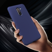 For Xiaomi Pocophone F1 Case Soft Silicone Carbon Fiber Texture TPU Cover for Poco Redmi Note 7 Mi 9T Shockproof