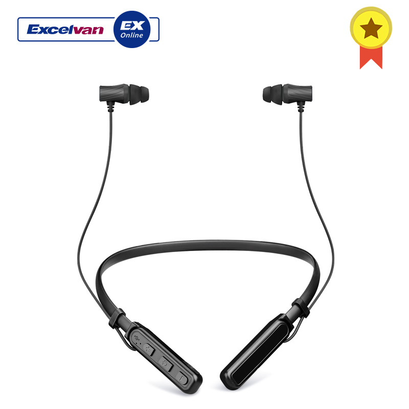 Excelvan Wireless BT Earphone Neckband Stereo Earphone Magnetic Earbuds Noise Reduction With Hi-Fi Stereo Built-in Mic