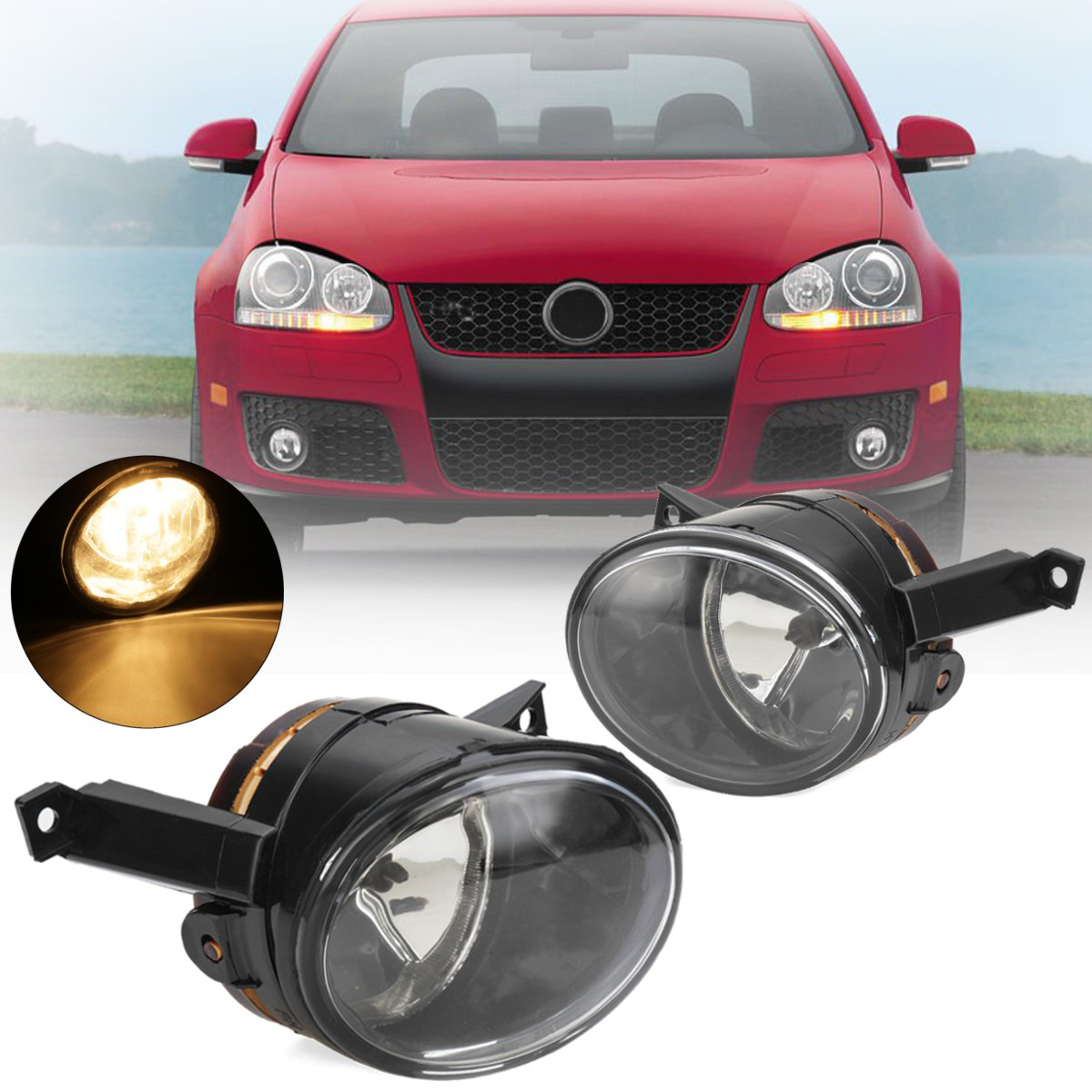 12v 55w Car Light For VW Polo Vento Sedan Saloon 2011 2012 2013 2014 2015 2016 Front Fog Light Lamp Cover Assembly 1T0 941 699C