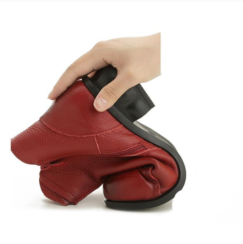 D'hiver gray Blace De red Femmes Nationale Bottines Bottes Imprimé Femme tissé En Vent Plate forme Pour Et Automne Cuir Main 1UqxA5wR
