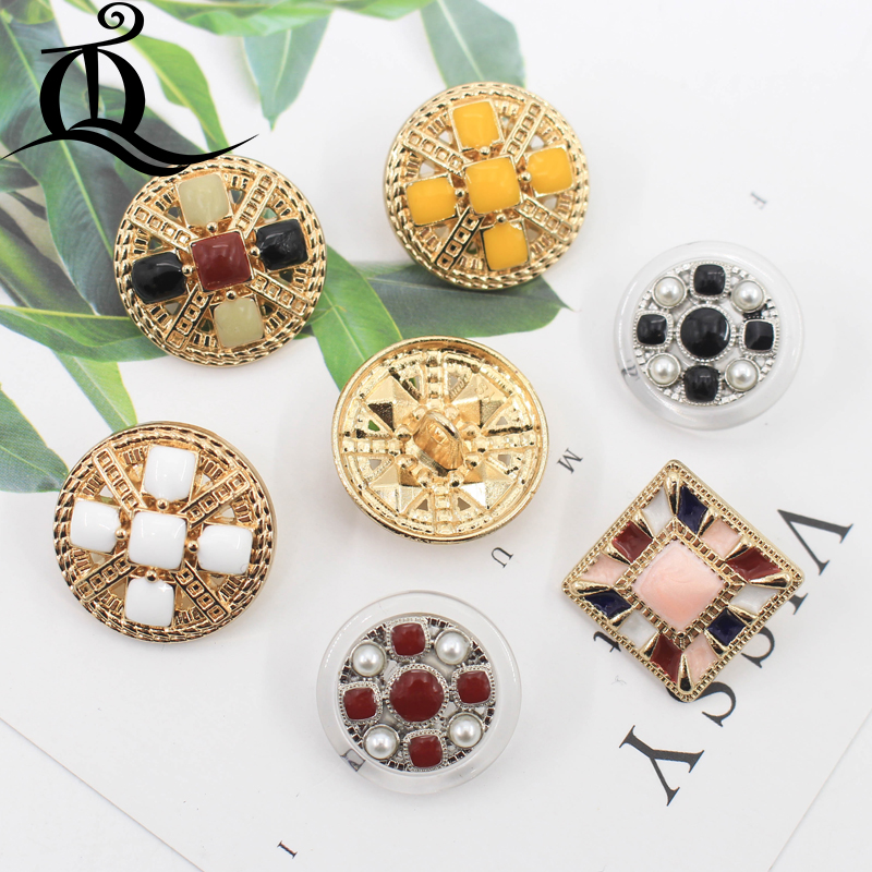Home & Garden 10-12mm Mix British Style High-grade Lion Metal Buttons Wheat Round Coat Jacket Sweater Clothing Garment Accessories Diy Mate