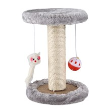 Hot Cat Scratching Post With Hanging Mouse Play Toy Activity Center Funiture House For Cat Scratching Sleeping