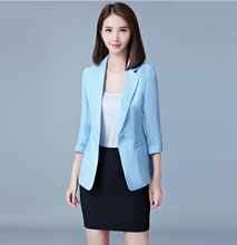 Three Quarter Sleeve Plus Size Women's Blazers