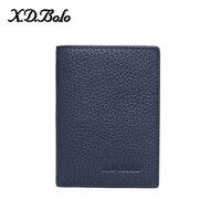 X. D. Боло ID держатель для карт мини передний карман кошелек пояса из натуральной кожи для мужчин кредитной карты бумажник Мода деньги карман ...