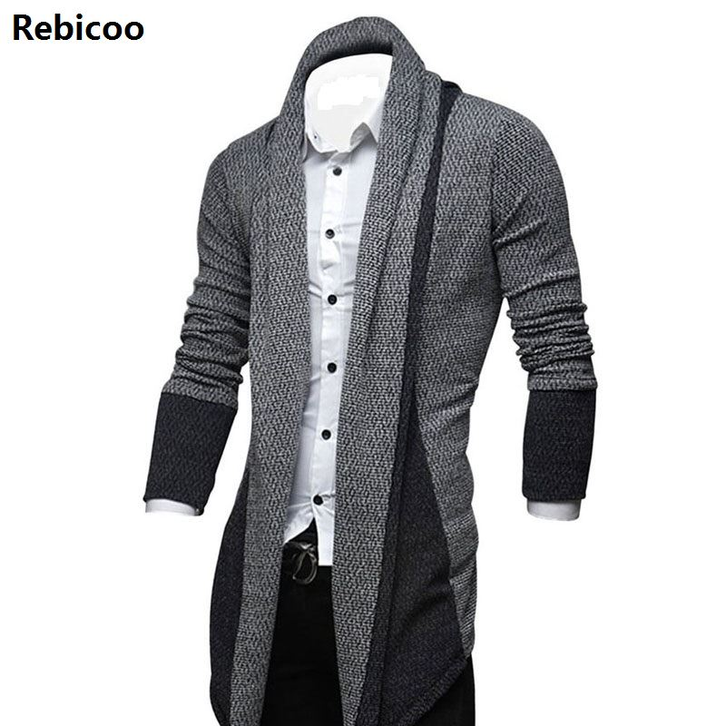 Men's Casual Fashion Cardigan Sweater Slim Korean Style Long Sleeve Cardigan Sweaters Male Fit Sweatercoat Casual Knitted Tops