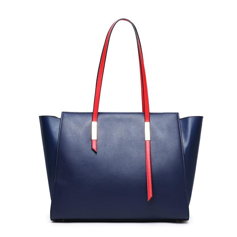 Pour Cuir Tas Bandoulière Red Femmes blue Wanita Feminina Main En Fourre Sac tout À Bolsa Les Véritable black Sacs Femme qZx8XwTI