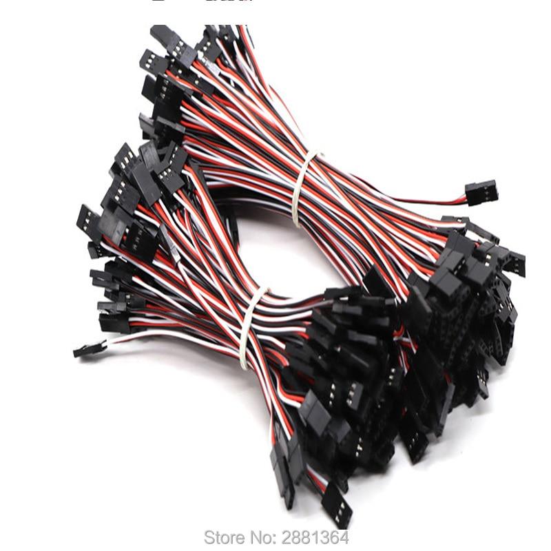 5pcs 10cm Servo Receiver Extension Lead Wire Cable M//M for Flight Controller