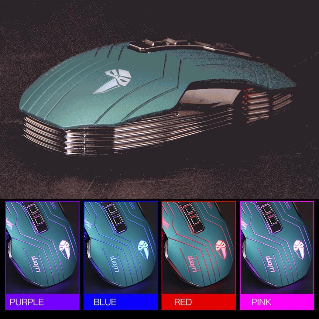 Lumière de respiration de souris de jeu filaire USB forte Durable pour ordinateur 9 boutons 10 millions de fois jeux