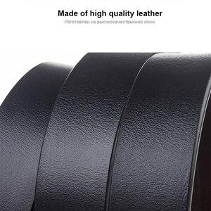 Image 2 - MEDYLA Cinturón de cuero clásico para hombre, cinturón masculino clásico de 3,2 cm, marrón, para Hebilla de metal y mayores