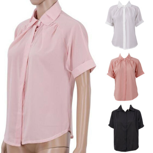 2019 Style Ladies Woman Summer season Chiffon Quick Sleeve Informal Stable Shirt Tops Shirt Shirt Clothes Blouses & Shirts, Low cost Blouses & Shirts, 2019 Style Ladies Woman Summer...