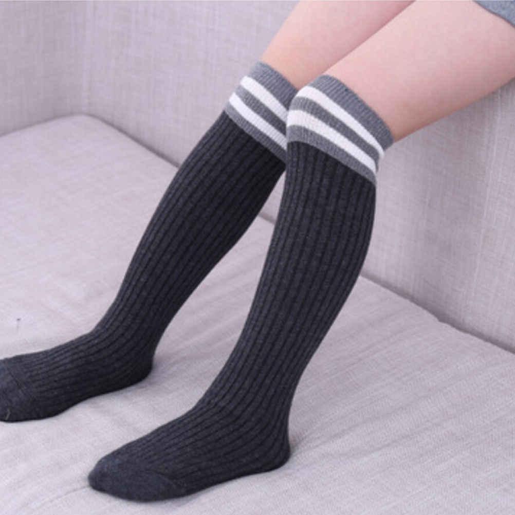 Las niñas elegante rodilla alto medias de niño bebé niños niñas medias de algodón caliente de nuevo invierno cálido