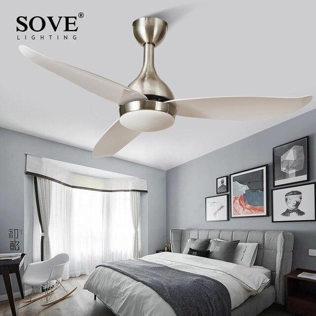 SOVE Modern LED Ceiling Fans With Lights Bedroom Home Black Ceiling Light Fan Lamp 220 Volt Fan Ceiling White Ventilador De Teto