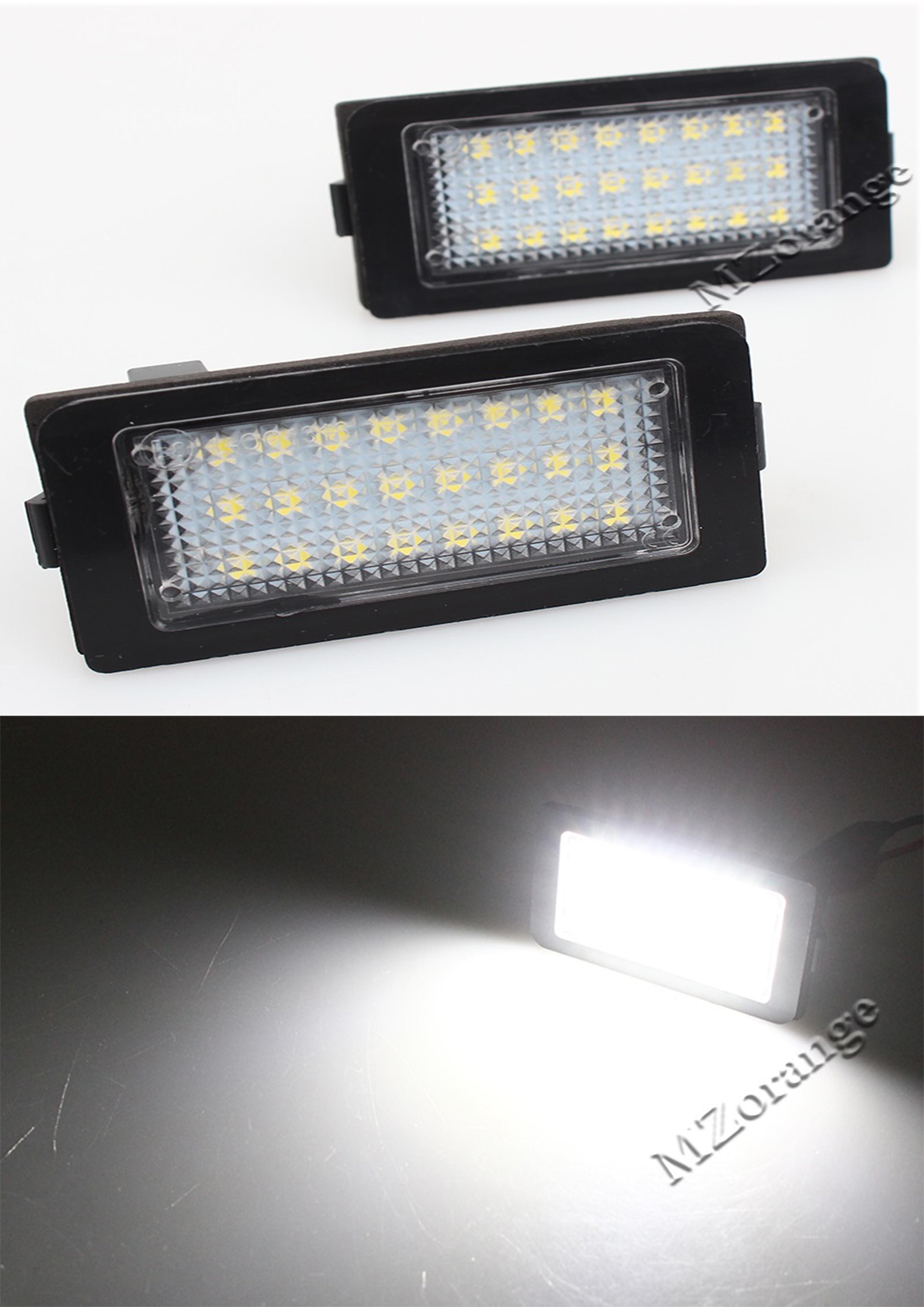 MZORANGE 2pcs 12v 6000k Car LED  Number Licence Plate Light For BMW E38 1995-2001 24 SMD White Led Lamp Bulb