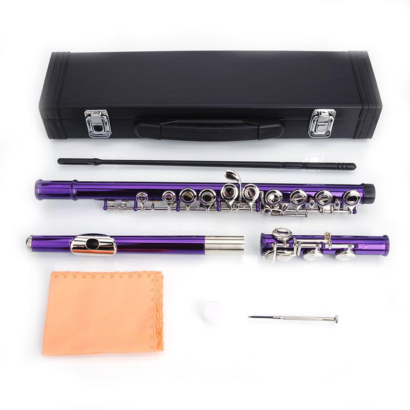 Cupronickel C 16 Closed Holes Concert Band Flute PurpleCupronickel C 16 Closed Holes Concert Band Flute Purple
