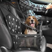 Benepaw Foldable Small Dog Car Seat Waterproof Pet Car Seat Carrier With Safety Leash Zipper And Storage Pocket Cat Travel 2019(China)