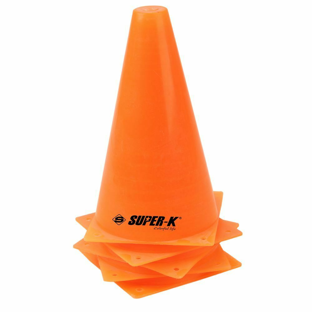 Soccer Cone 5pcs In One Set 9'' Training Safty Cone For Soccer Football Soccer Road Way Cones Bright Orange Free Shipping