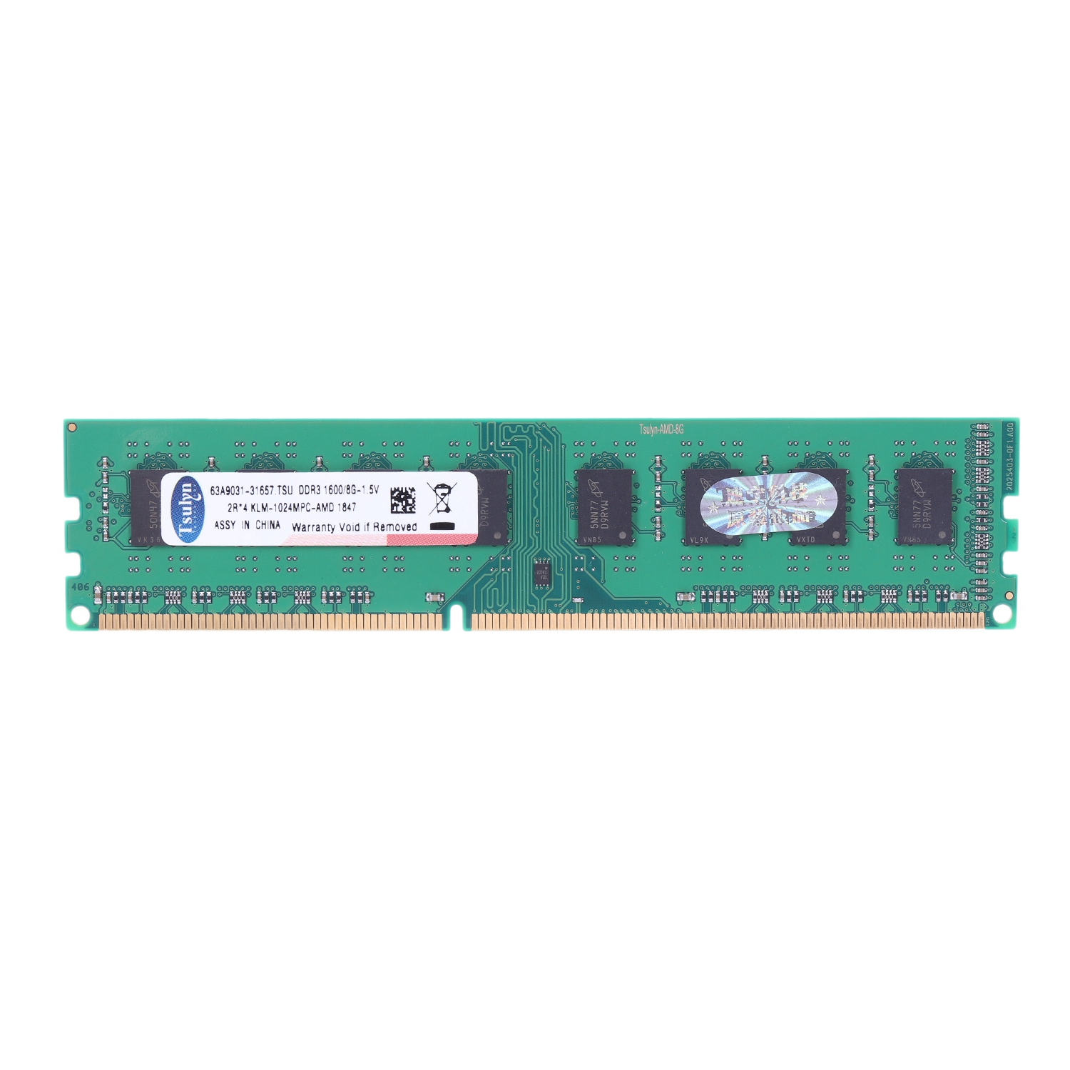 Tsulyn 8Gb Ddr3 1600Mhz Ram Desktop Memory Dimm Only For Amd F2 M2 Computer Pc image